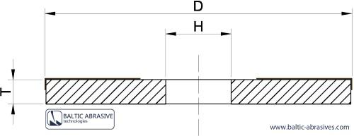 1A2 - šoninio šlifavimo diskas