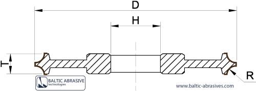 2 CABOCHON - dvigubo kabošono gamybos diskas