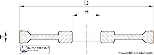 1A1 - tiesus šlifavimo diskas